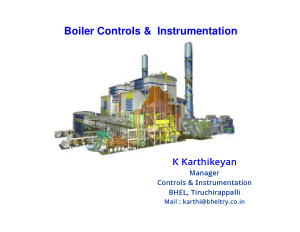 Boiler Controls and Instrumentation