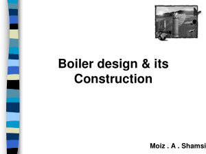 Boiler design and its Construction