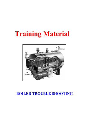 Boiler Trouble Shooting – Training Material