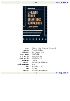 Efficient Boiler Operations Sourcebook