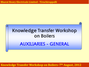 Knowledge Transfer Workshop on Boilers