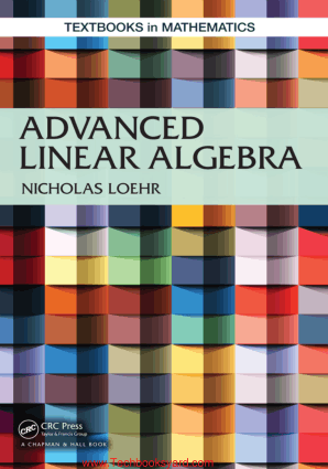 Advanced Linear Algebra by Nicholas Loehr