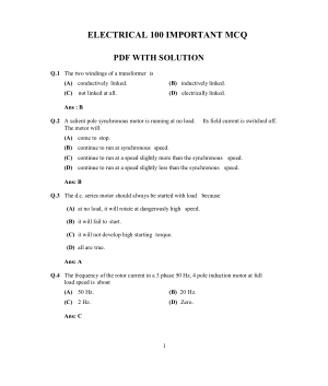 ELECTRICAL100 IMPORTANT EXPECTED MCQ WITH SOLUTION