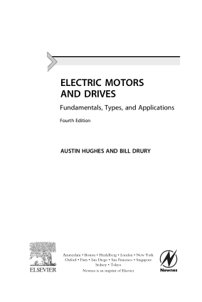 ELECTRIC MOTORS AND DRIVES Fundamentals Types and Applications Fourth Edition AUSTIN HUGHES AND BILL DRURY