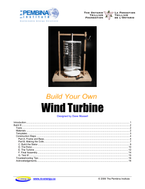 Build your own Wind Turbine by Dave Mussell