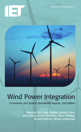 Wind Power Integration Connection and System Operational Aspects 2nd Edition Brendan Fox