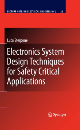 Electronics System Design Techniques for Safety Critical Applications Luca Sterpone