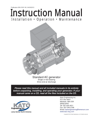 permanent magnet generator Instruction Manual