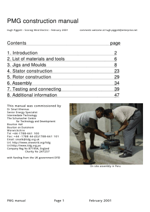permanent magnet generator construction manual