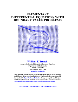 elementary differential equations with boundary value problems william f. trench