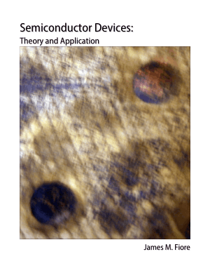Semiconductor Devices Theory and Application by James M. Fiore