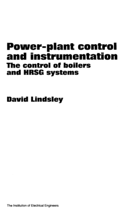 power-plant control and instrumentation the control of boilers and hrsg systems by david lindsley