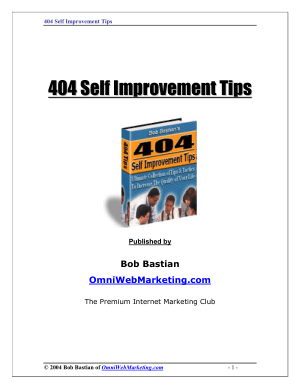 404 Self Improvement Tips Bastian Bob