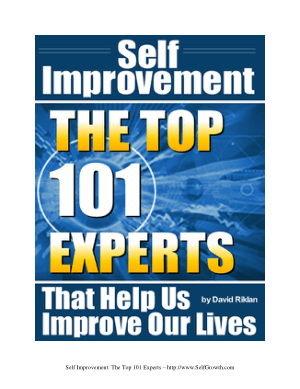 Self Improvement The Top 101 Experts Who Help Us Improve Our Lives David Riklan