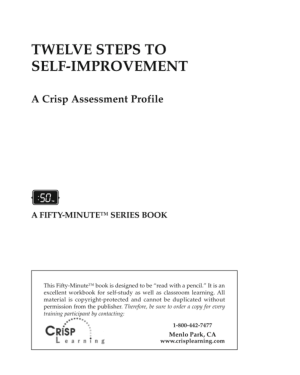Twelve Steps to SelfImprovement A Crisp Assessment Profile