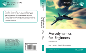 Aerodynamics for Engineers SIXTH EDITION John J. Bertin