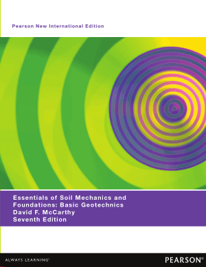 Essentials of Soil Mechanics and Foundations Basic Geotechnics Seventh Edition David F. McCarthy