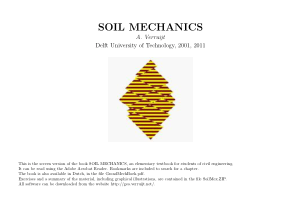 SOIL MECHANICS A. Verruijt