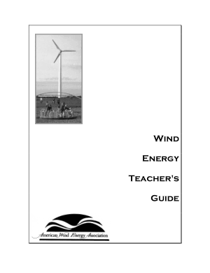 Wind Energy Teacher Guide