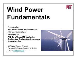 Wind Power Fundamentals