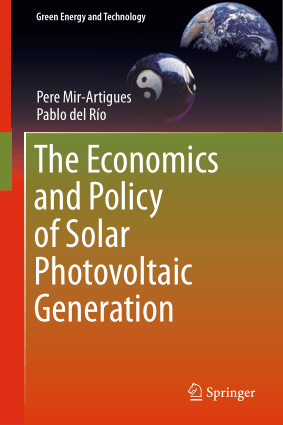 The Economics and Policy of Solar Photovoltaic Generation Pere Mir Artigues