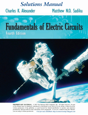 Solutions Manual Of Fundamentals Of Electric Circuits 4th ed By Alexander M Sadiku