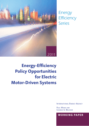 Energy Efficiency Policy Opportunities for Electric Motor Driven Systems Paul Waide