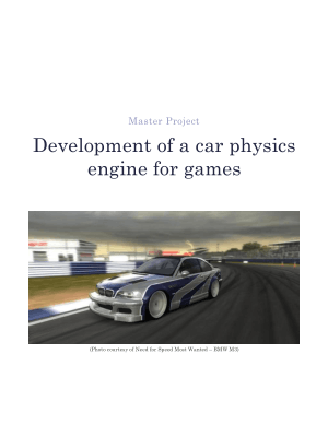 Development of a car physics engine for games