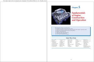 Fundamentals of Engine Construction and Operation