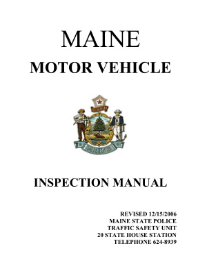 Maine Motor Vehicle Inspection Manual