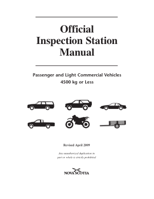 Official Inspection Station Manual Passenger and Light Commercial Vehicles