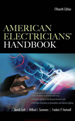 American Electricians Handbook Fifteenth Edition By Terrell Croft Wilford I. Summers and Frederic P. Hartwell