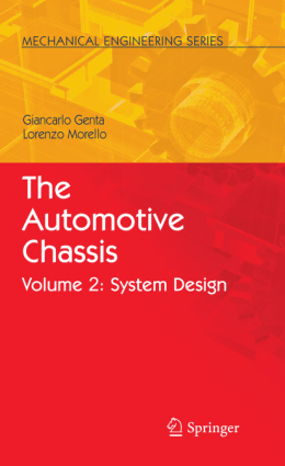 The Automotive Chassis Vol. 2 System Design Giancarlo Genta