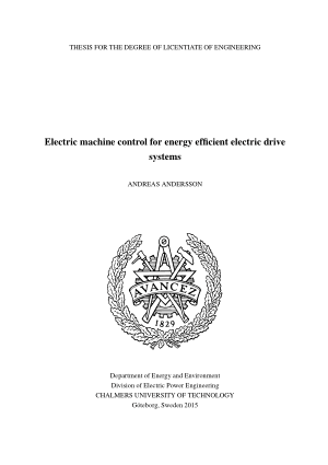 Electric machine control for energy efficient electric drive systems