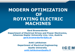 modern optimization of rotating electric machines