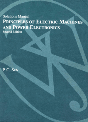 Principles of Electric Machines and Power Electronics Solutions Manual