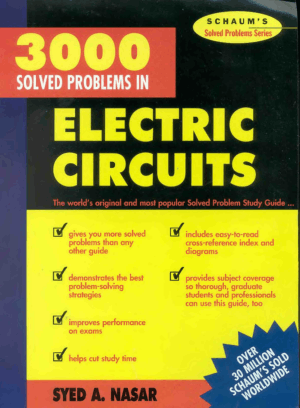 3000 Solved Problems in Electric Circuits Schaums by syed A. Nasar