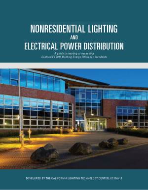 Nonresidential Lighting and Electrical Power Distribution
