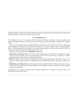 Jerry Whitaker Standard handbook of broadcast engineering