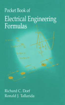 Pocket Book of Electrical Engineering Formulas by Richard C. Dorf and Ronald J. Tallarida