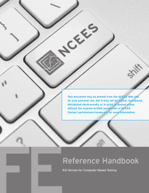 FE Reference Handbook 2013 Edition