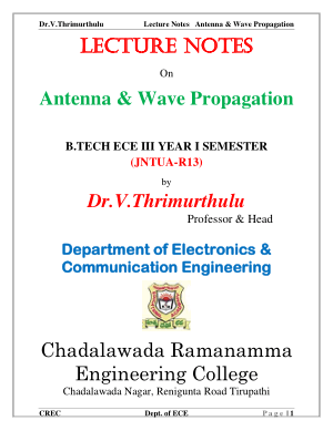 lecture notes on antenna and wave propagation
