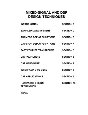 Mixed Signal and DSP Design Techniques ISBN0750676116