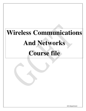 Wireless Communications And Networks Course file