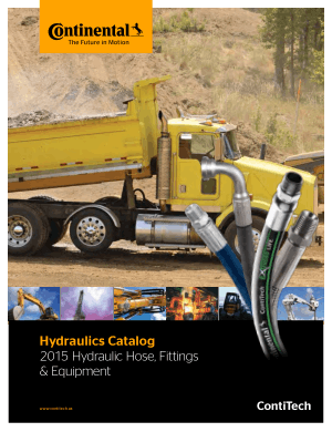 Hydraulics Catalog 2015 Hydraulic Hose Fittings and Equipment