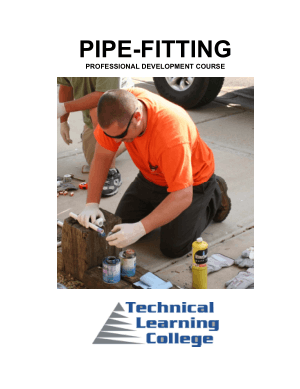 pipe fitting professional development course