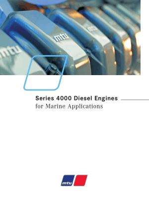 MTU Series 4000 Diesel Engines for Marine Applications