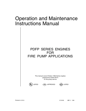 Operation and Maintenance Instructions Manual PDFP SERIES ENGINES