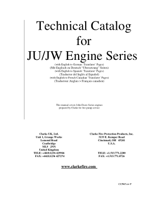 Technical Catalog for JUJW Engine Series