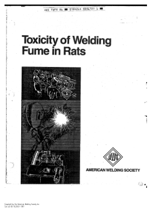 Toxity of weldinf fumes in Rats